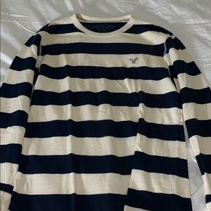 American Eagle Striped Thermal Sweater M